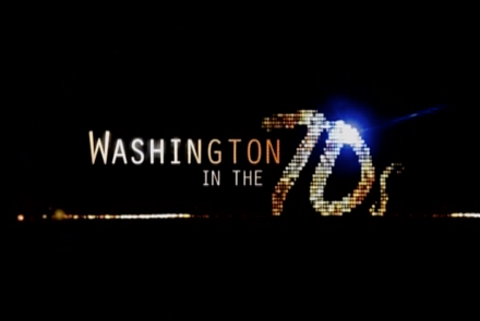 Washington in the 70s title treatment