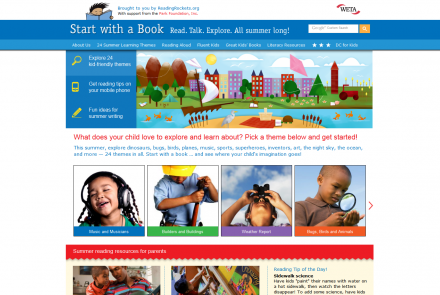 Screengrab from Start With A Book website.